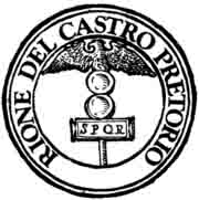 [Bild: Rome_rione_XVIII_castro_pretorio_logo.jpg]